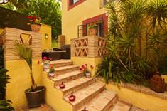 Breakfast terrace steps