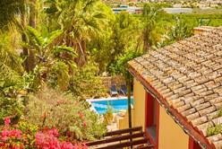 Top terrace to pool
