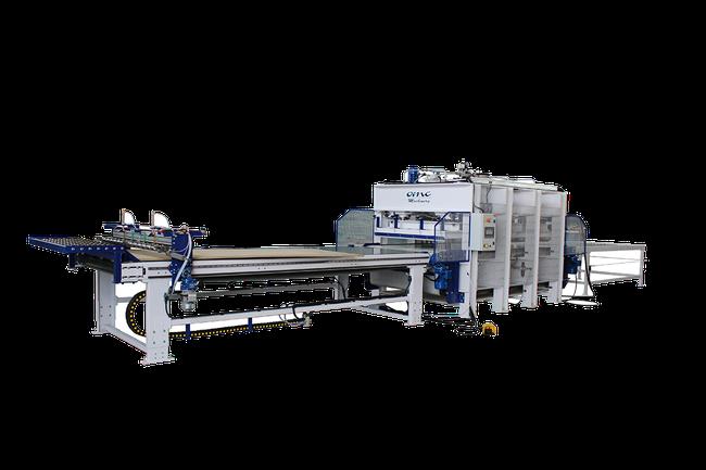 auto feed hot veneer press