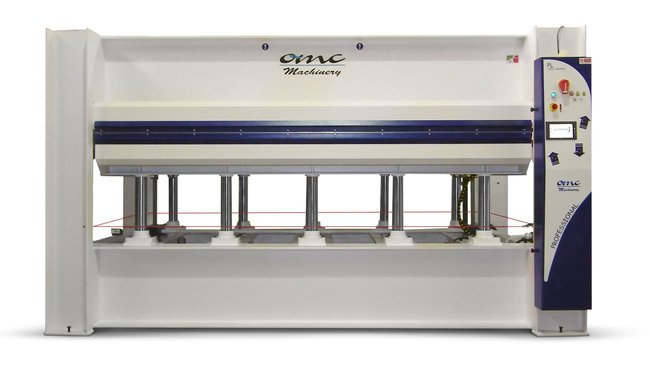 omc oil heated veneer press