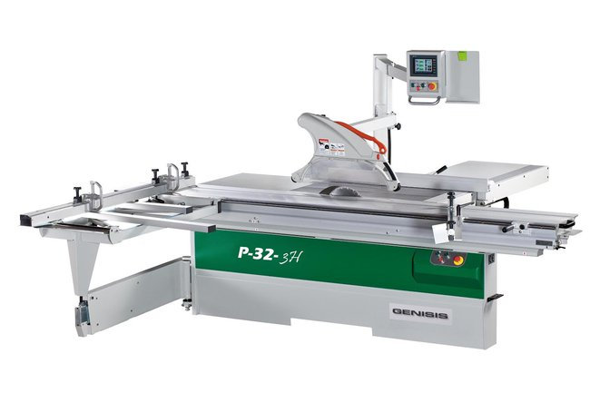 genisis p32 cnc sliding table panel saw wood working machinery