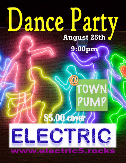 Electric 5 played at Town Pump