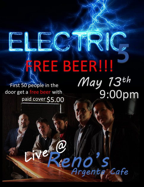 Electric 5 played at Reno's Argenta Cafe