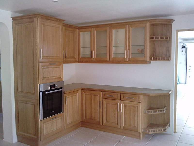 fa ade cuisine bois massif. Black Bedroom Furniture Sets. Home Design Ideas