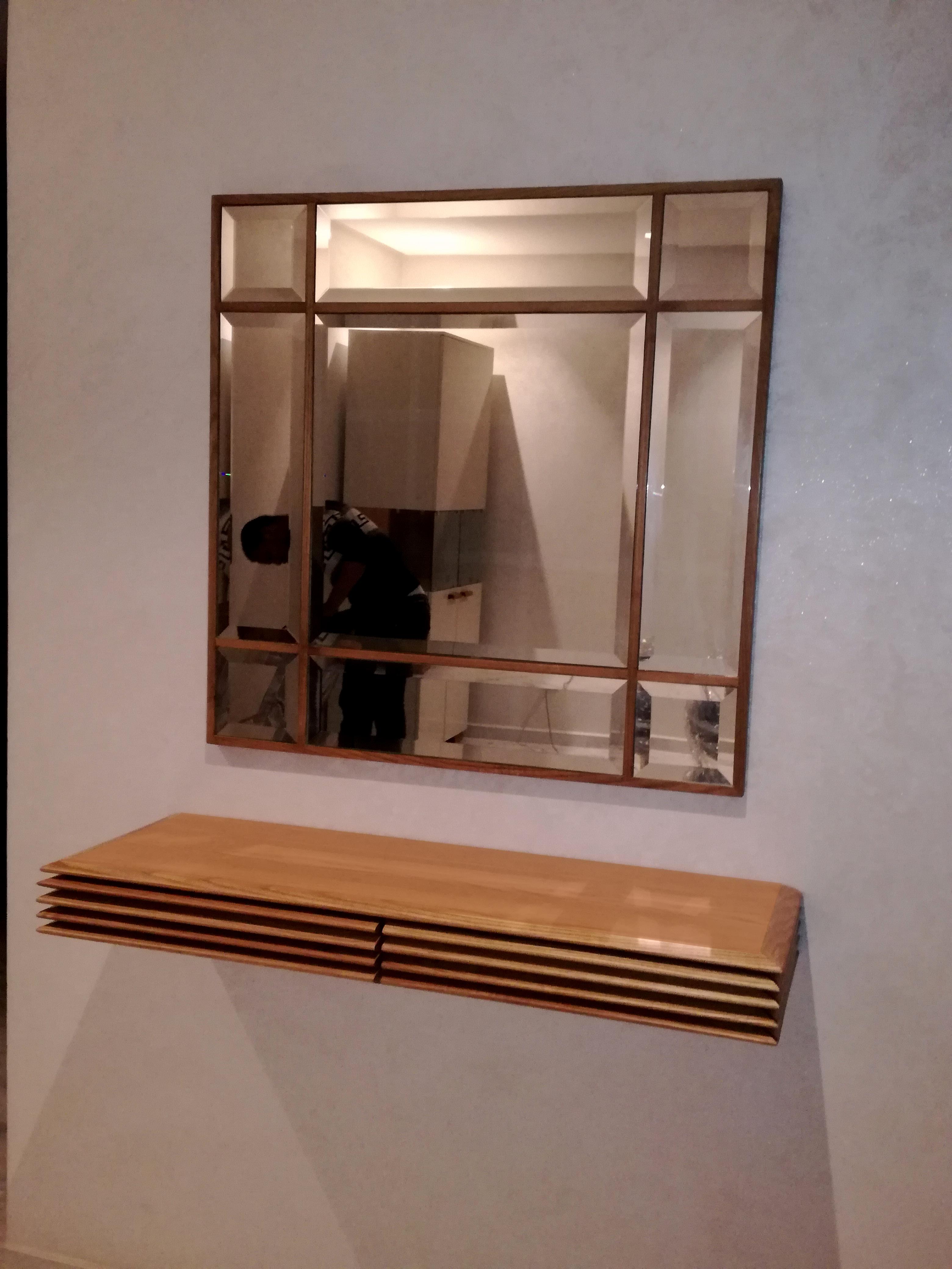 Grand Miroir D Entrée consoles d'entrée fabiquées sur mesure.