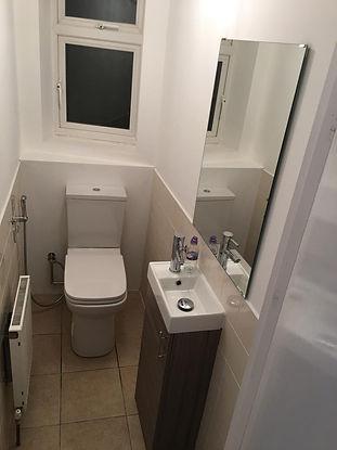 after builders clean ruislip cloakroom.j