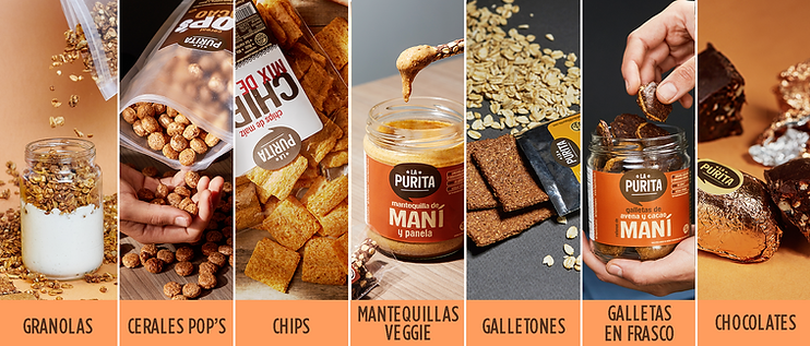 Snacks saludables de La Purita