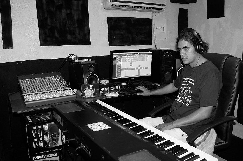 Diego in his studio, black & white.jpg