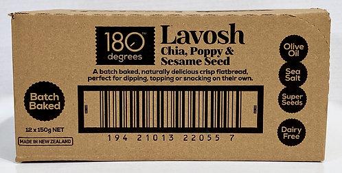 Chia, Poppy & Sesame Seed Lavosh [Carton of 12]