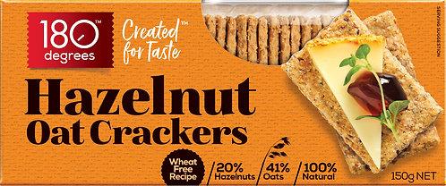 Hazelnut Oat Crackers [Carton of 12]