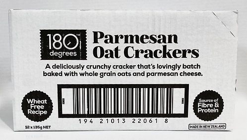 Parmesan Oat Crackers [Carton of 12]