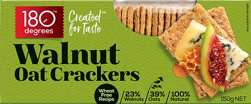 Walnut Oat Crackers