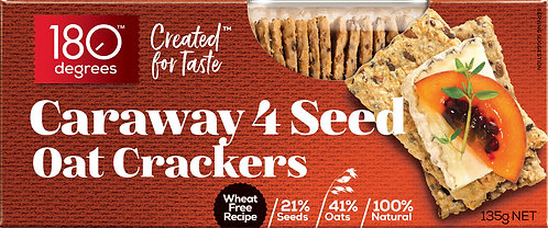 Caraway 4 Seed Oat Crackers [Carton of 12]