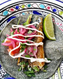 Mackerel taco