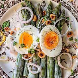 Asparagus and hazelnut salad, ottinge fa