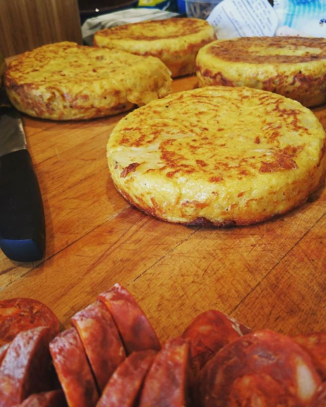Tortilla and Chorizo