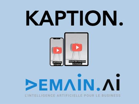 Kaption.fr est désormais un service de demain.ai