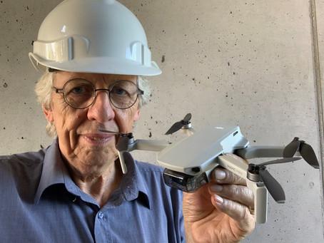 Drohnenflug nur mit Helm