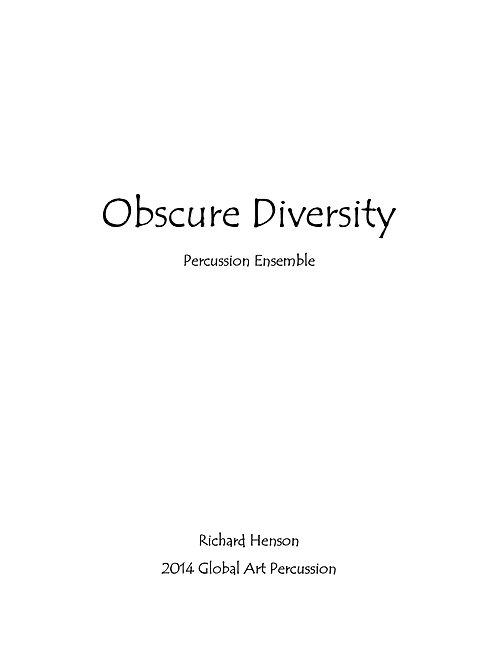 Obscure Diversity
