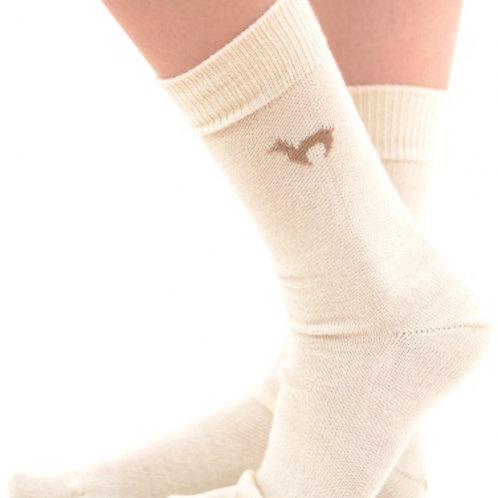 weiße Business Socken aus Alpacawolle