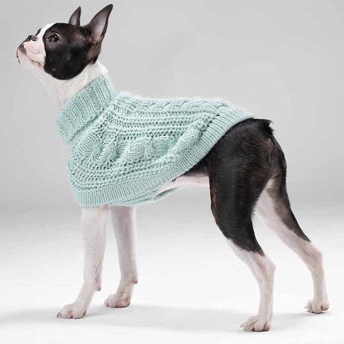hellblauer Hundepullover, Seitenansicht