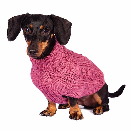 Hundepullover pink, Forderansicht