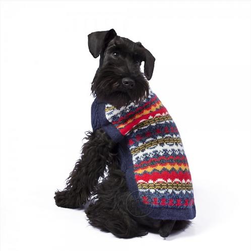 Hundepullover in Multicolor, Sitzansicht 1