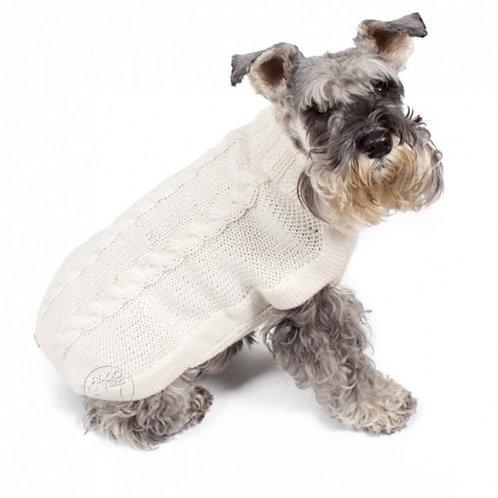 eleganter Hundepullover weiß