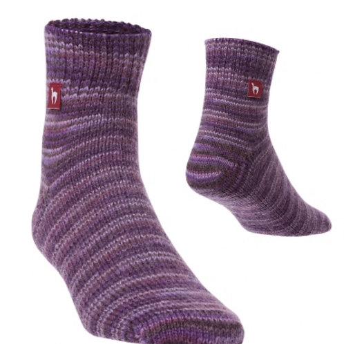 violett melierte Freizeit Socken, Vorderansicht