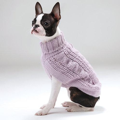 lavendel Farben Hundepullover, Seitenansicht
