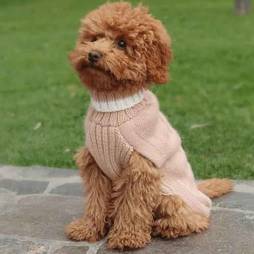 pink Hundepullover, vorderansicht