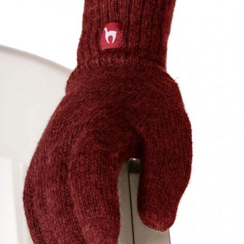 Fingerhandschuhe UNI Rot-meliert