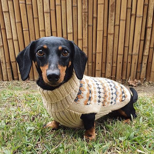 brauner Hundepullover, Musteransicht