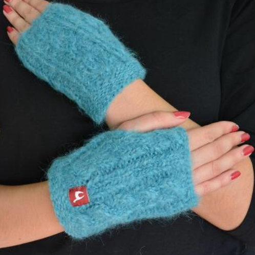 Damen - Pulswärmer in türkis, Musteransicht