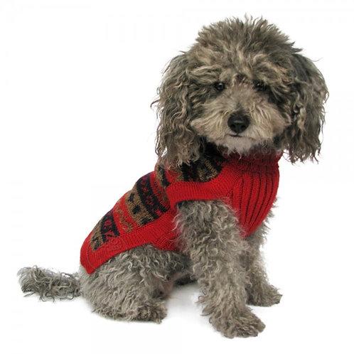 Hundepullover in rot, Sitzansicht