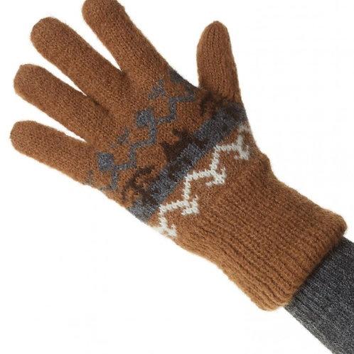 braune Handschuh, Rückansicht