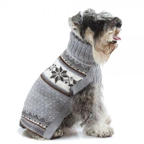 grauer Hundepullover, Seitenansicht