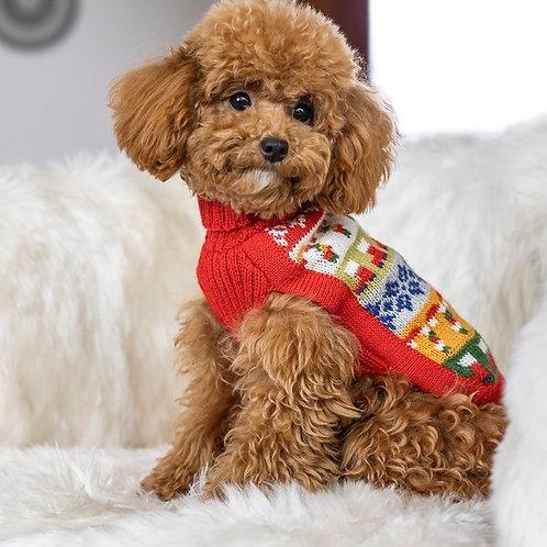 weihnachtlicher Hundepullover, Seitenansicht