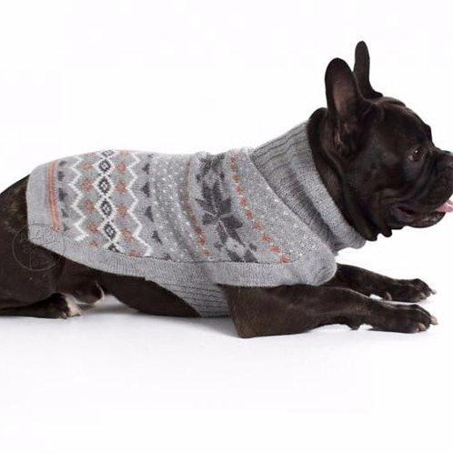 Hundepullover gefrorene Schneeflocke, Liegendansicht