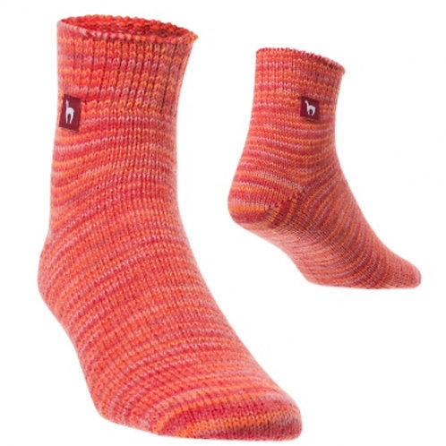 rot melierte Freizeit Socken, Vorderansicht