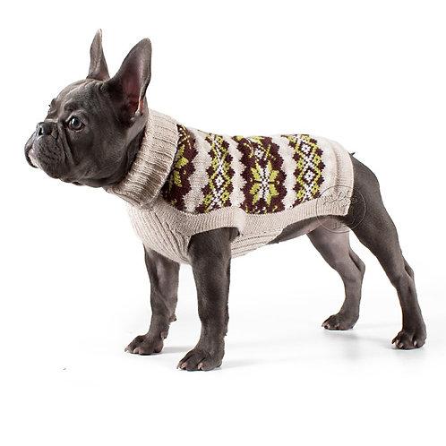 brauner Hundepullover, Seitenansicht