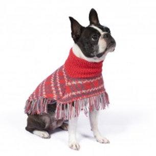 roter Hundeponcho, Sitzansicht