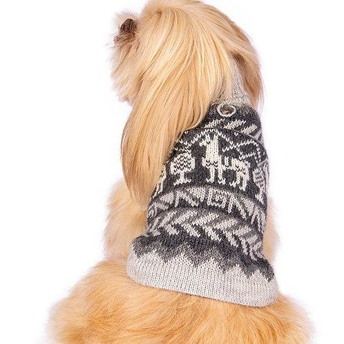 Hundepullover Lamamuster, Rückenansicht