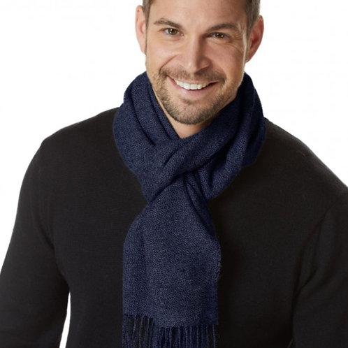 blauer Schal meliert, Musteransicht