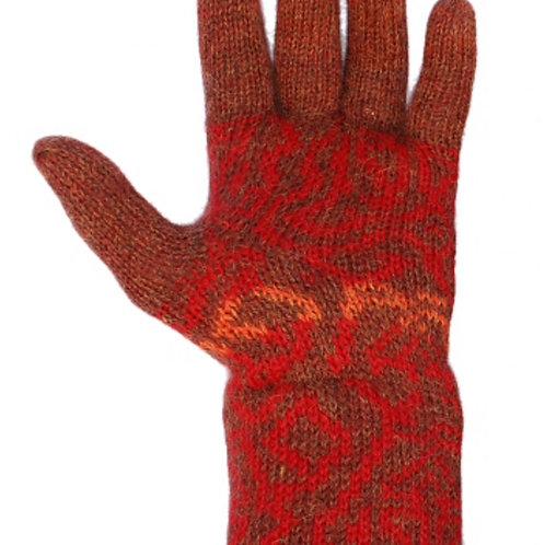 roter Damenhandschuh, Vorderansicht