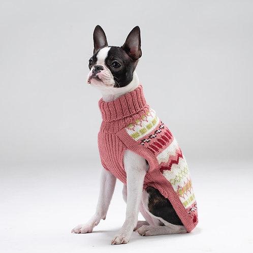 Hundepullover pinkfarben, Seitenansicht