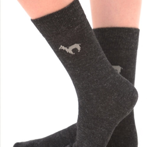 dunkelgraue Business Socken aus Alpacawolle