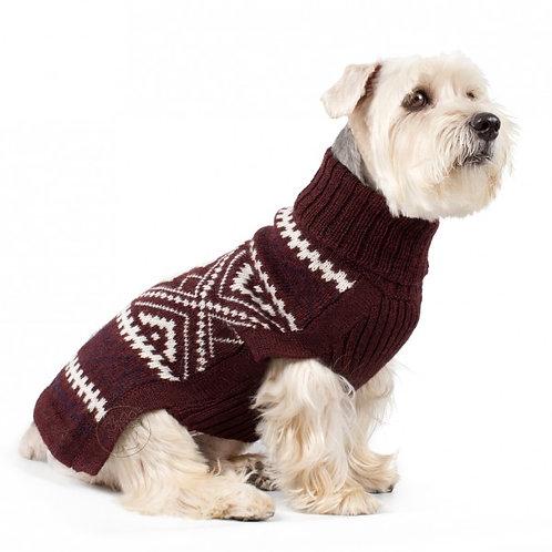 burgundy Hundepullover, Sitzansicht