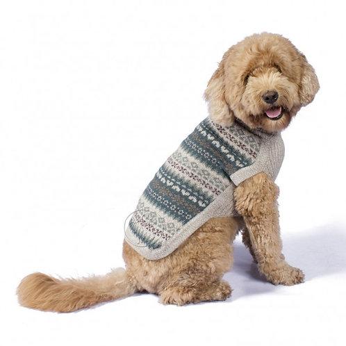 grauer Hundepullover in light Farben, Sitzansicht