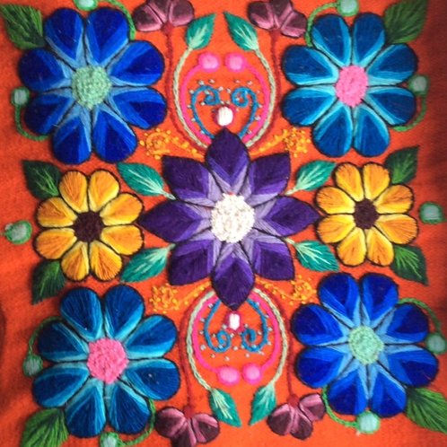 KISSEN Blumen (Orange)